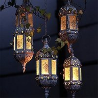 1PC Vintage Metal Hollow Candle Holder Wedding Lanterns