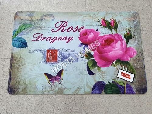 Floral 3D Print Door Mat(40*60)Cm