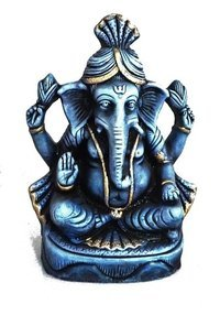 Ganesha Sitting Blue