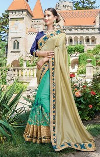 Designer Heavy Embroidery Work Saree