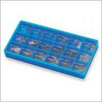 18cells assortment blue box for spring bars