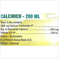 Calcium Carbonate Syrup