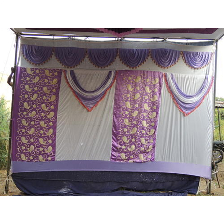 Block Printed Tent Sidewall