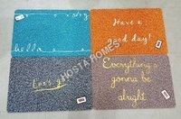 Fancy Pvc Rubber Door Mat Combo Of 4
