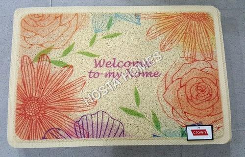 Floral Print Pvc Rubber Door Mat