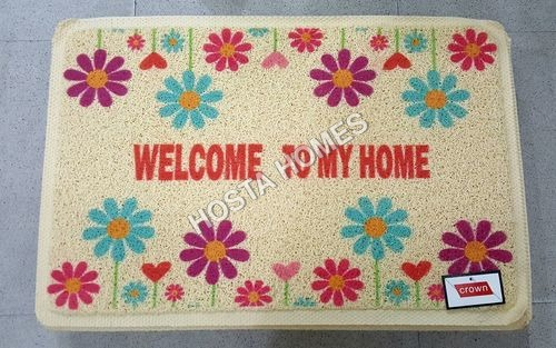 Pvc Rubber Door Mat With Floral Design