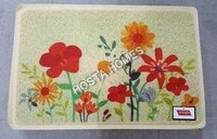 Flower Print Pvc Rubber Door Mat