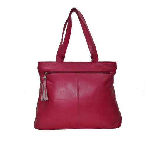 Fashionable Ladies Genuine Leather- Stylish Shoulder sling Bag- Evening Party Bag - Color Red