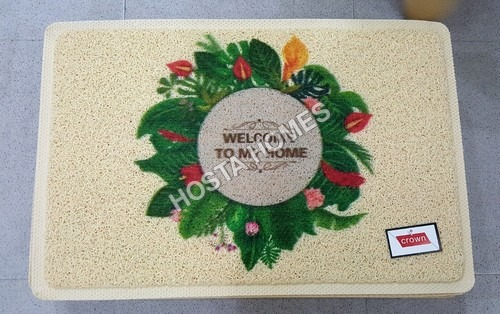 Floral Print Pvc Rubber Door Mat (40*60)