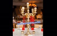 Golden Carved Wedding Table Centerpieces