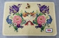 Big Floral Print Pvc Rubber Door Mat