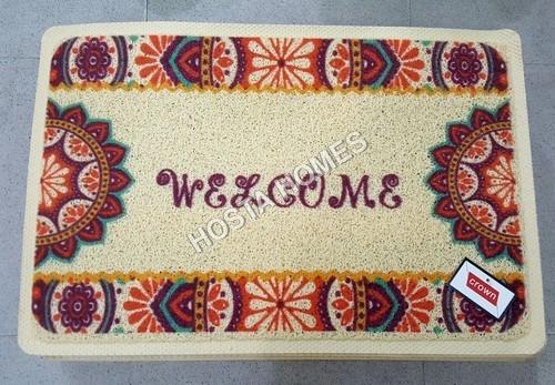 Art & Craft Welcome Print Pvc Mat