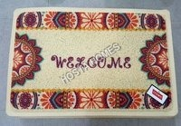 Art & Craft Welcome Print Pvc Mat