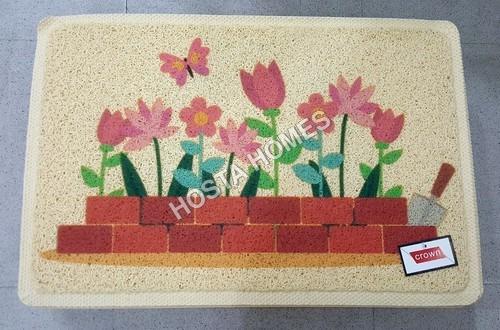 Floral Print Pvc Rubber Mat