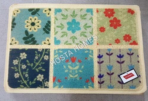 Multi Floral Design Pvc Mat