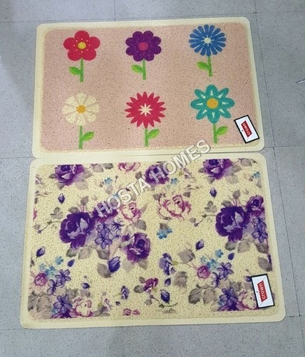 Multi Flower Design Pvc Rubber Mat