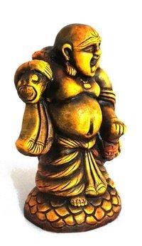 Yellow Laughing Buddha
