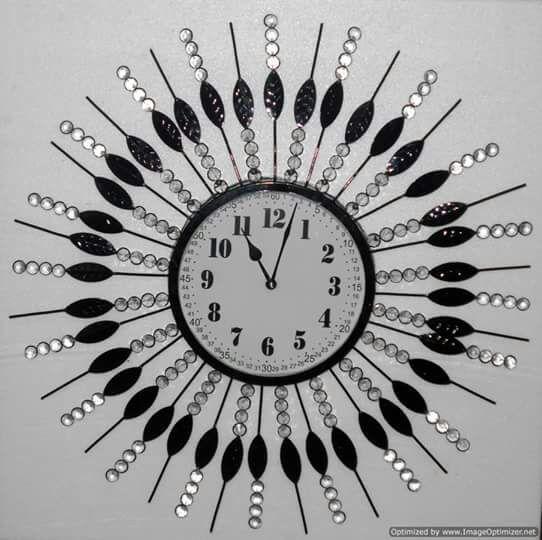 Glass Iron Wall Clock