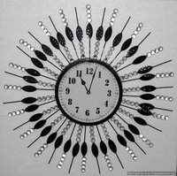 Glass Iron Wall Clock