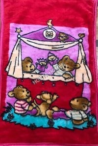 Super Soft Baby Mink Blanket Cartoon Character Printed
