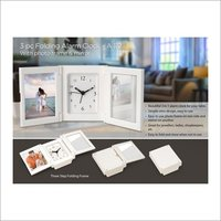 Pc Folding Alarm Clock With Photo Frame And Mirror