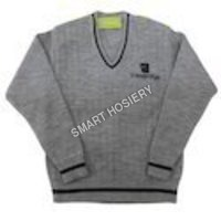 V Neck School Sweater
