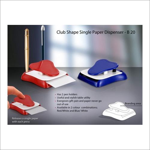 Club Shape Single Paper Dispenser