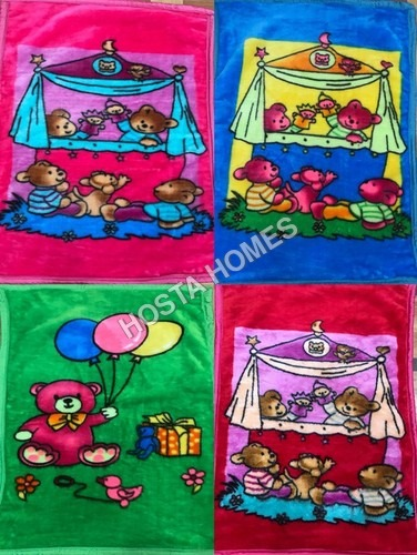 Cartoon Print Super Soft Baby Blanket Combo Of 4(36*54)inch