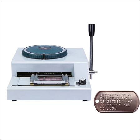 Dog Tag Embossing Machine