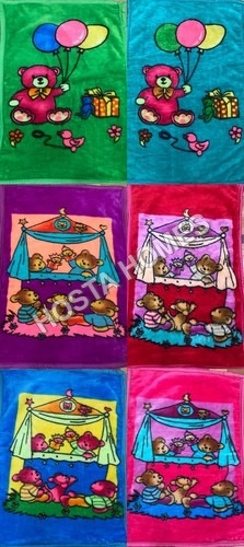 Super Duper Cartoon Printed Super Soft Baby Mink Blanket Combo Set Of 6 (36*54)inch
