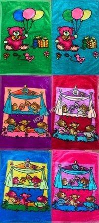 Super Duper Cartoon Printed Super Soft Baby Mink Blanket Combo Set Of 6 (36*54)inch
