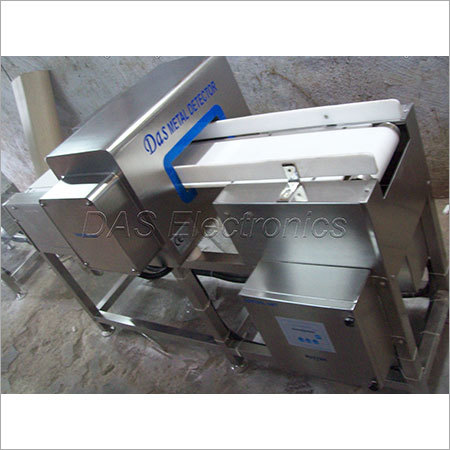 Metallic Packaging Inside Metal Detector