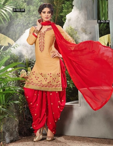 d041066983 Embroidered Dhoti Style Cotton Salwar Kameez Supplier - KRIVI ...