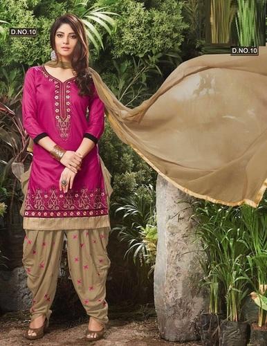 Long Sleeves Patiala Salwar Suit Wholesaler