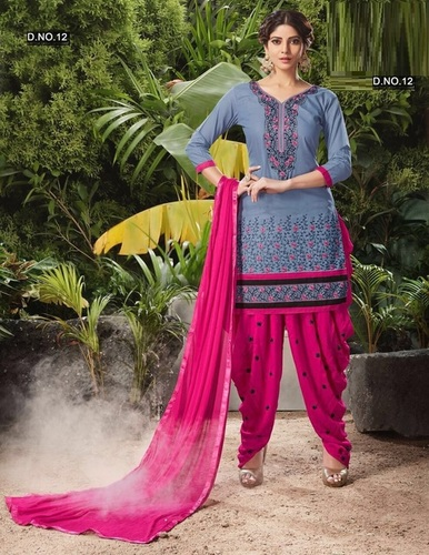 Embroidered Cotton Salwar Kameez Supplier In India