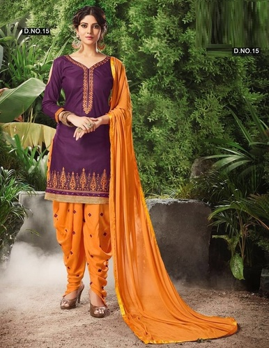 Hot Designer Cotton Patiyala Suit