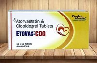 Atorvastatin 10 mg + Clopidogrel 75 mg Tablets