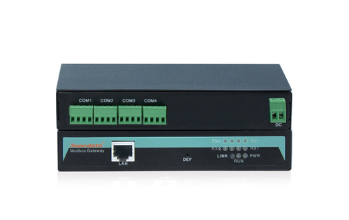 4-port RS-485/422 to Ethernet Modbus Gateway
