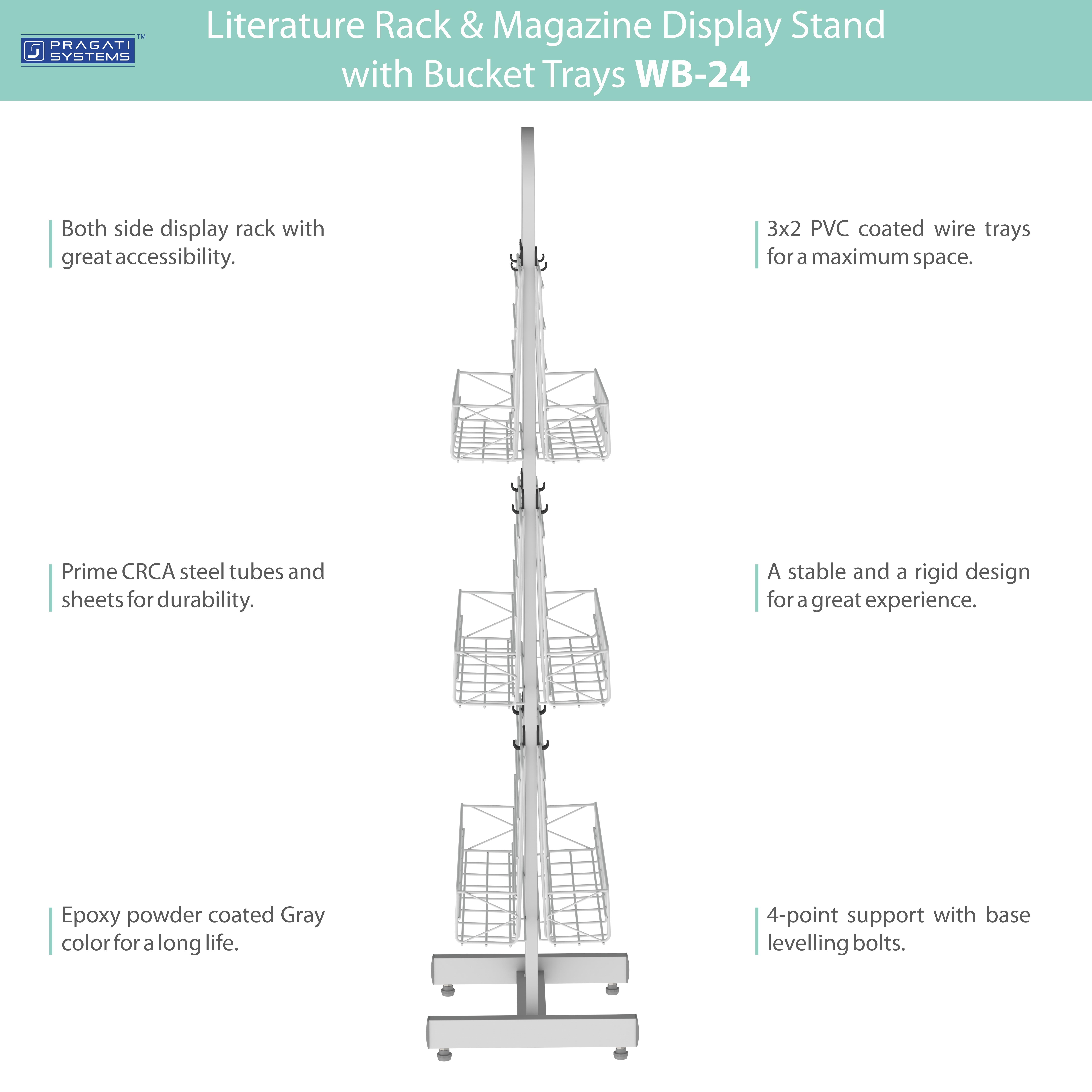 WB-24 Literature Rack & Magazine Display Stand