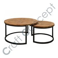 SET OF 2 METAL COFFEE TABLE