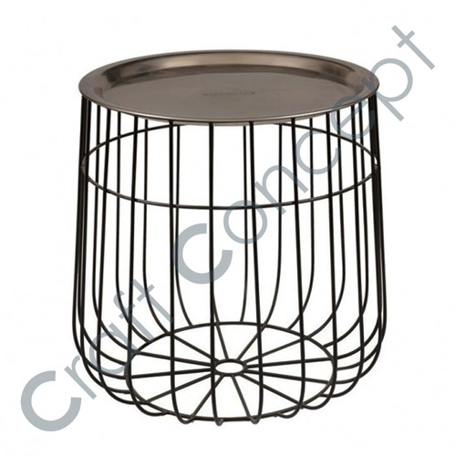 ROUND METAL COFFEE TABLE