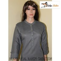 Cotton Gray kurti with plitting