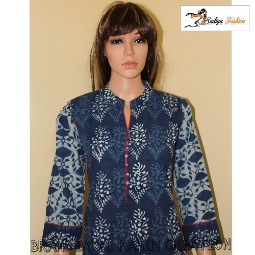 Daabu cotton kurti with slit