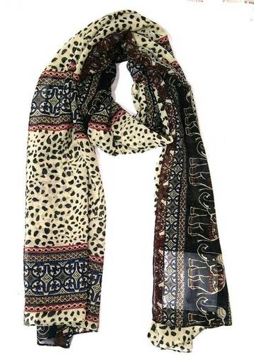 100% Polyester Animal Printed scarves