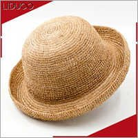 Chinese summer floppy bamboo beach panama straw boater lady hat
