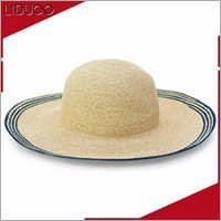 european style ladies panama cap summer sun floppy straw hat