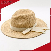 chinese custom women lady floppy straw beach bands boater hat