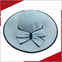 Chinese waterproof folding sun wide brim bamboo raffia straw hat
