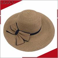 Wholesalers promotional women sun beach straw floppy beach hat