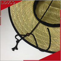 European style summer luffy beach fedora cap straw beach hat